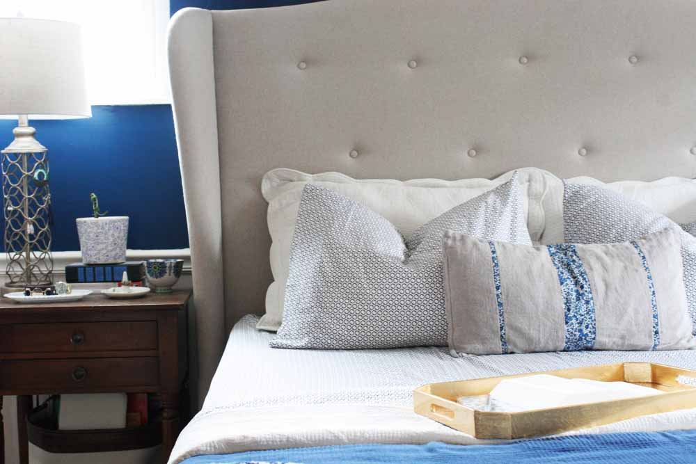 5 Steps to Make a Beautiful Bed, French Ring Sheet Set from Serena and Lily by @CraftivityD