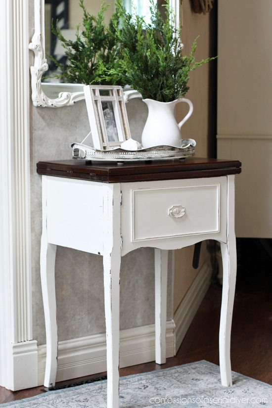 White Sewing Table - by Confessions of a DIYer