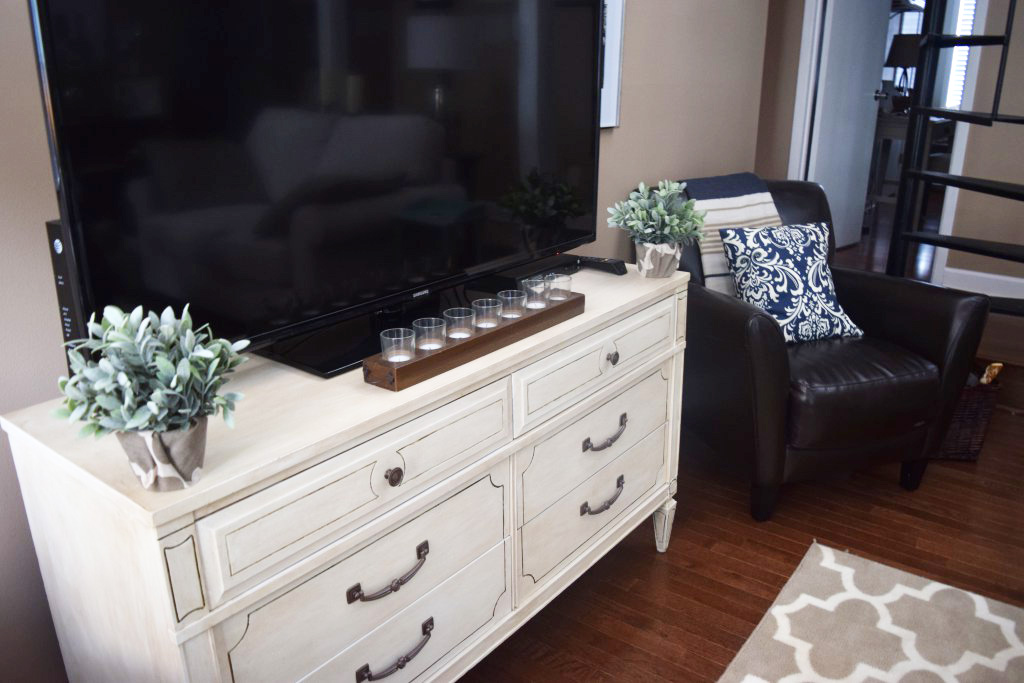 White TV Stand - by Loveland Lodge