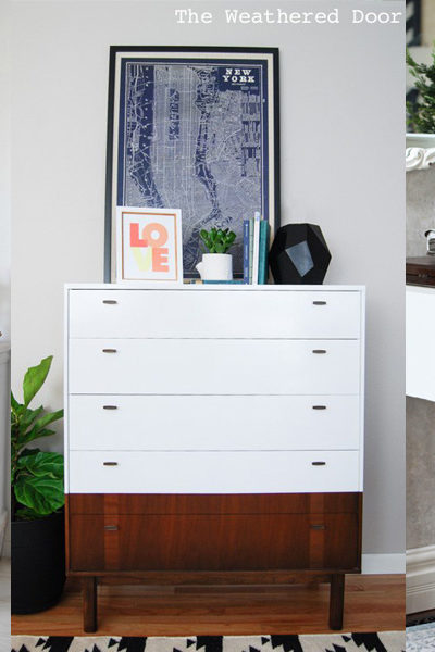 8 White Furniture Makeovers + Paint Colors