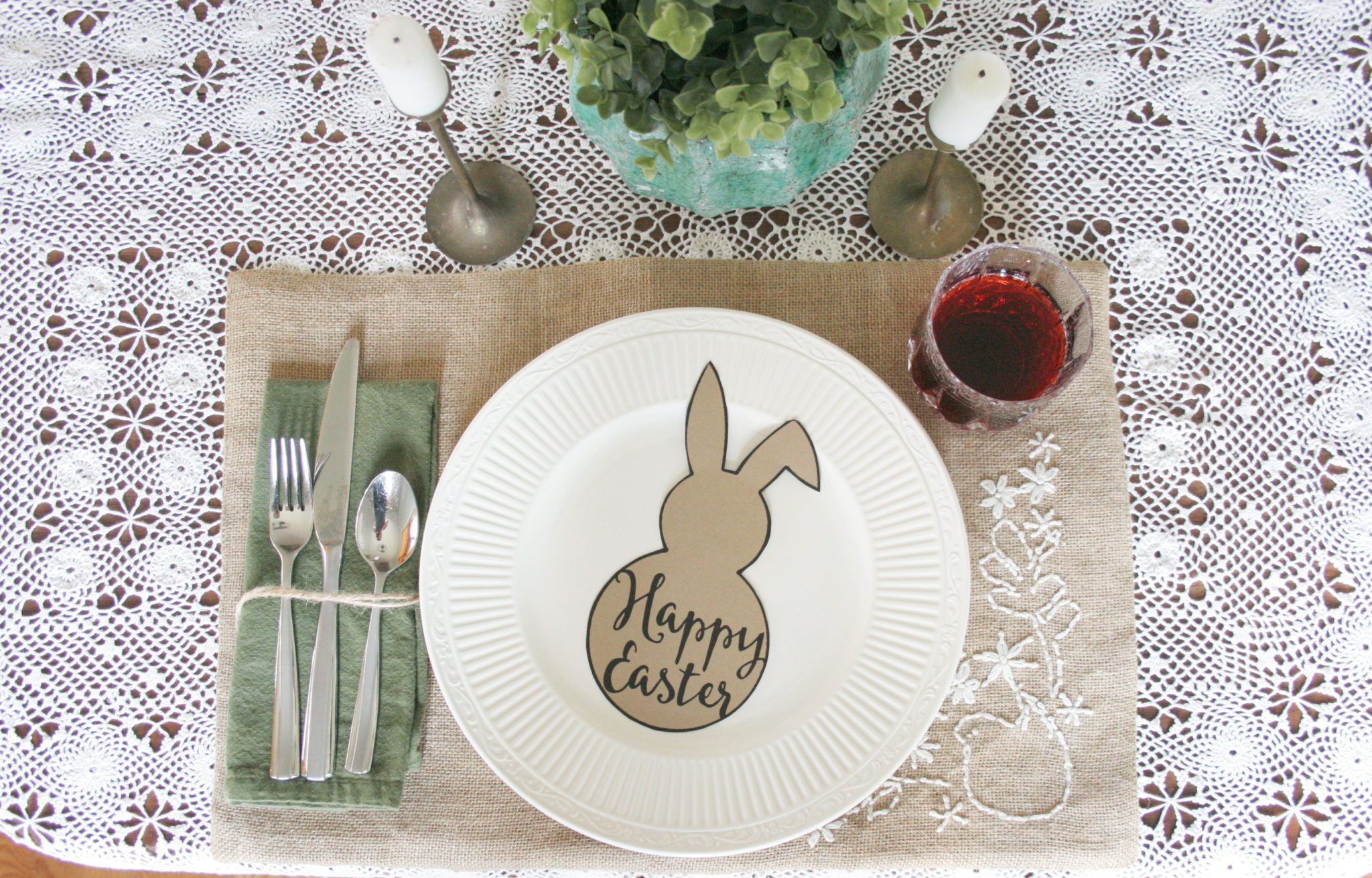 Easter Table Setting Free Easter Bunny Template Craftivity Designs