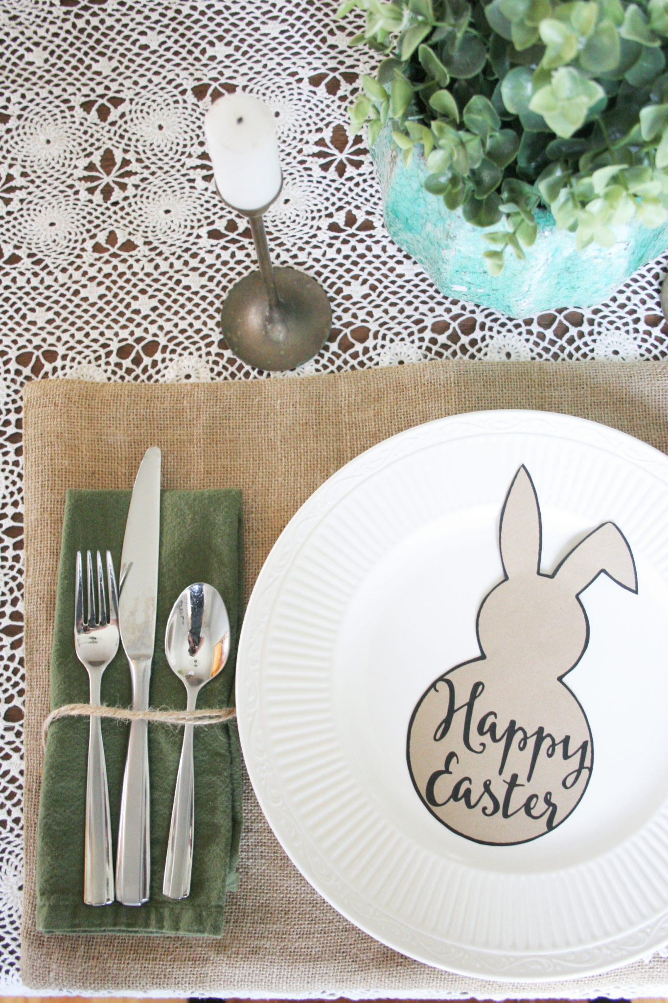 Easter Table Setting Free Easter Bunny Template