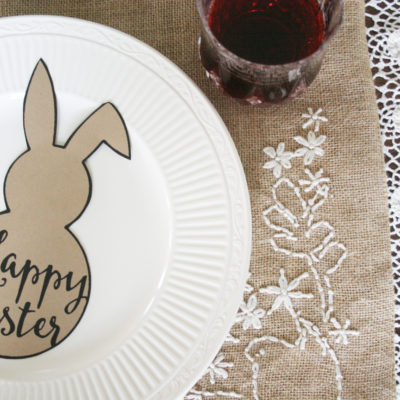 Easter Table Setting | Free Easter Bunny Template
