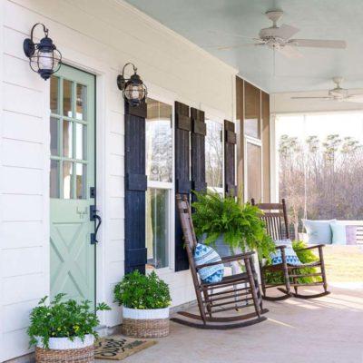 Exterior Colors   Green Front Door Ideas