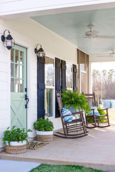 Exterior Colors | Green Front Door Ideas