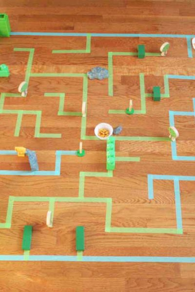 How to Make a Giant Floor Maze for Kids