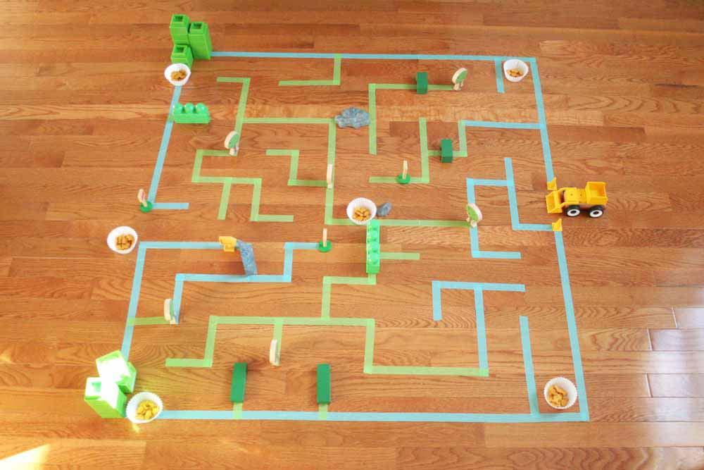 how to make a giant floor maze for kids  u2013 craftivity designs