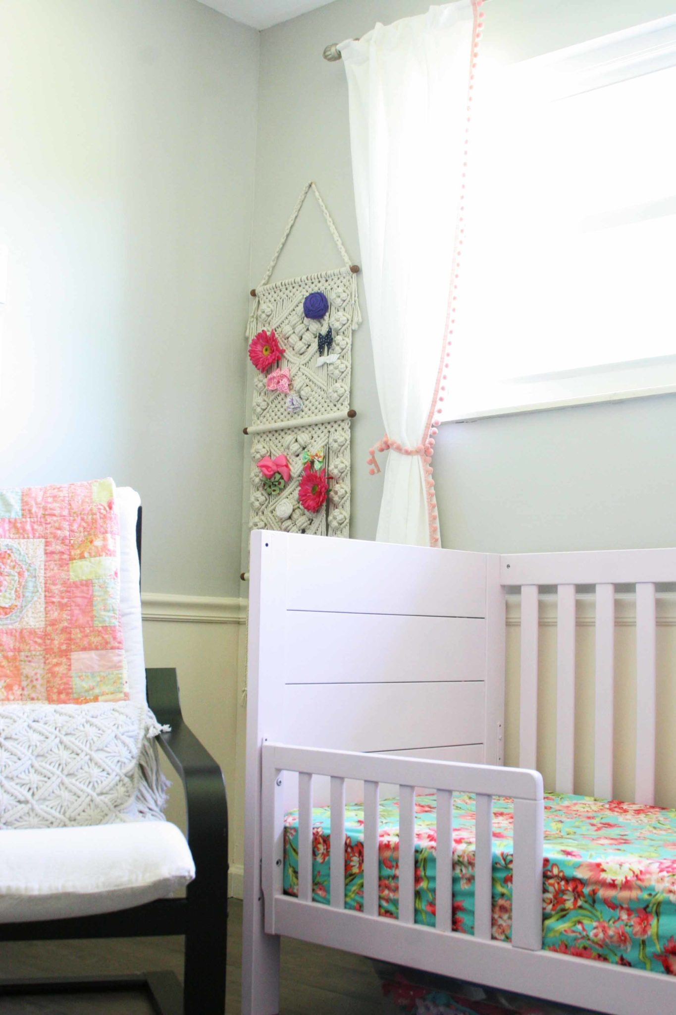 Amelia S Room Toddler Bedroom: Modern-bohemian-baby-girl-nursery-toddler12