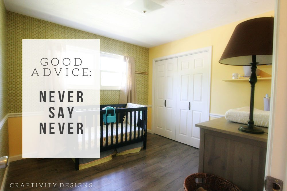 Why I've Never Participated in the One Room Challenge. Nursery Makeover (BEFORE)