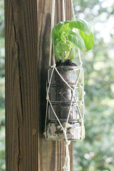 DIY Macrame Herb Garden from Recycled Bottles | Earth Day