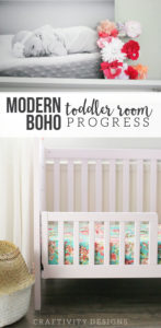 Modern-Boho Nursery, Modern Bohemian Toddler Room, Baby Girl, One Room Challenge Updates