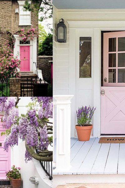 Exterior Color | Pink Front Door Ideas