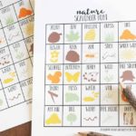 Nature Scavenger Hunt for Kids, Printable Scavenger Hunt Template