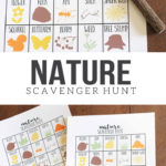 Nature Scavenger Hunt for Kids, Printable Scavenger Hunt Template, Summer Activities for Kids