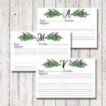 Personalized Recipe Cards, Botanicals, Herbs