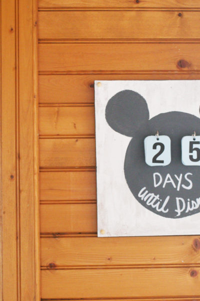Disney Countdown Calendar with a Video Tutorial