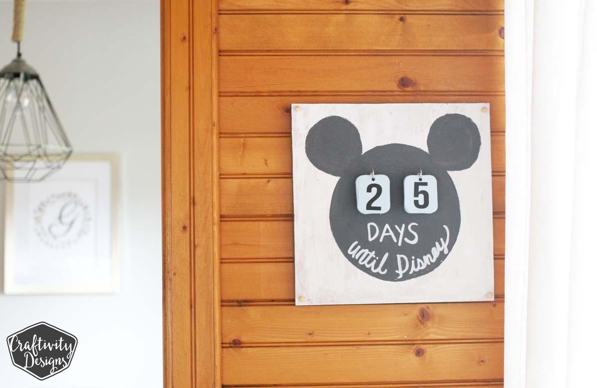 How to Make a Disney Countdown Calendar, Disney Trip, DIsney Vacation Countdown, Disney Ideas