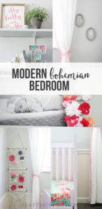 Modern Bohemian Bedroom for Baby Girl, Nursery, Toddler Room, One Room Challenge