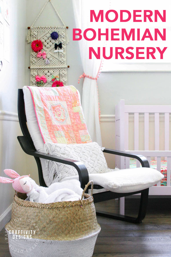 Modern Bohemian Nursery Reveal by Craftivity Designs
