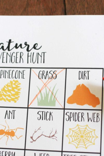 Nature Scavenger Hunt for Kids