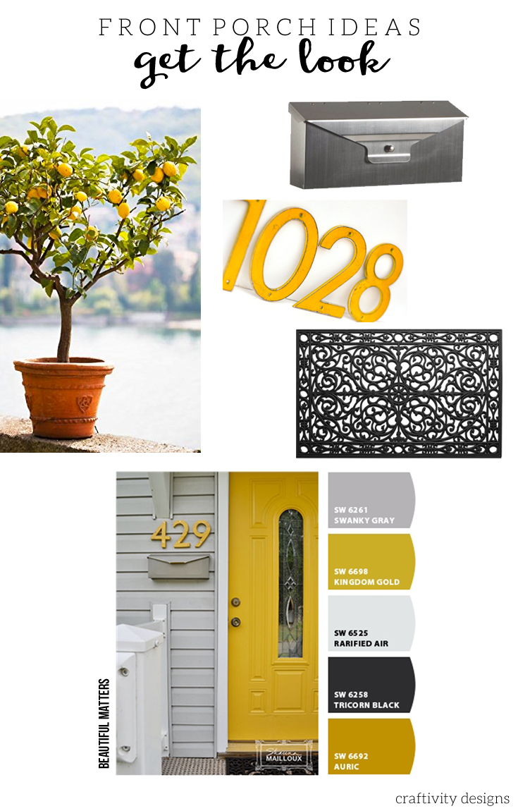 Yellow Front Door Ideas, Front Door Photo by Beautiful Matters
