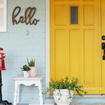 Exterior Color | Yellow Front Door Ideas