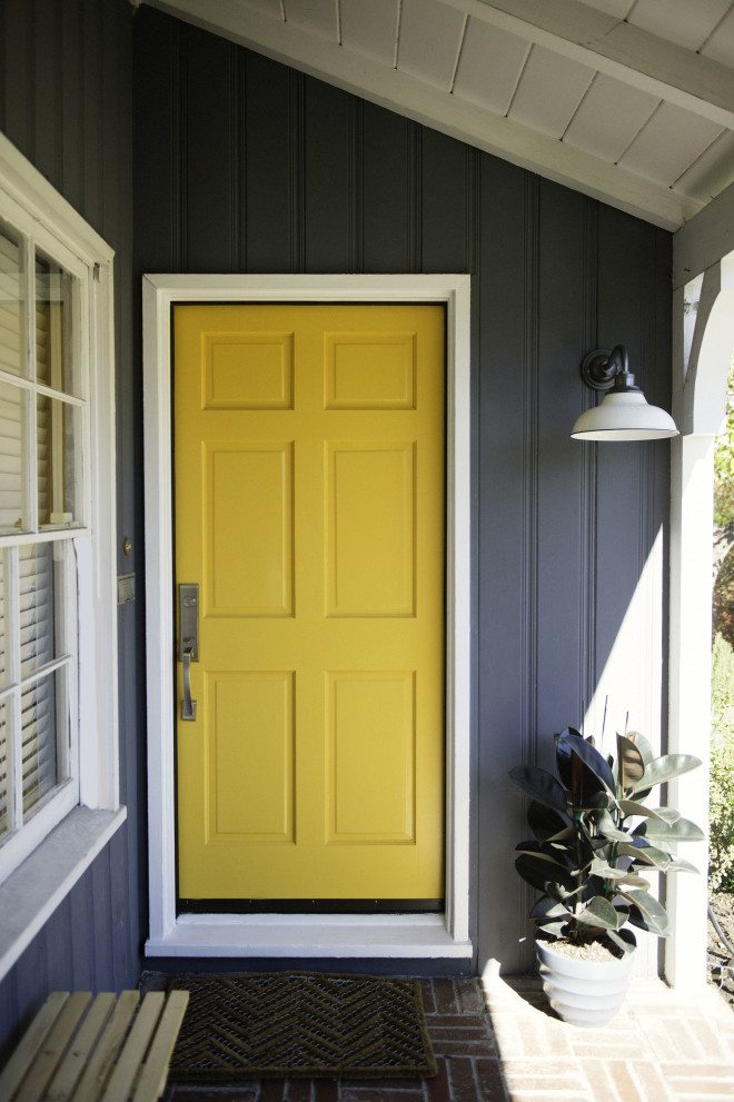 Yellow Front Door Ideas, Photo by Effortless Chic