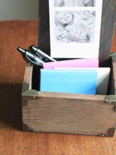 DIY Desktop Photo Holder, Handmade Father's Day Gift, DIY Desk Organizer