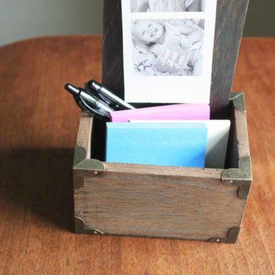 How to Make a Desktop Photo Holder | DIY Fathers Day Gift
