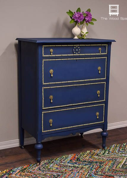 Navy Painted Nightstands