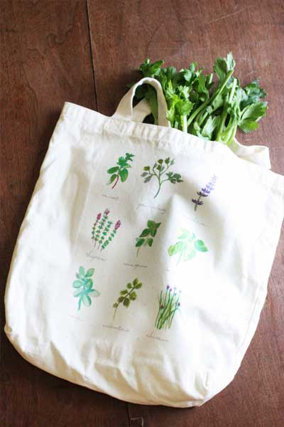 DIY Tote Bag for the Farmer's Market