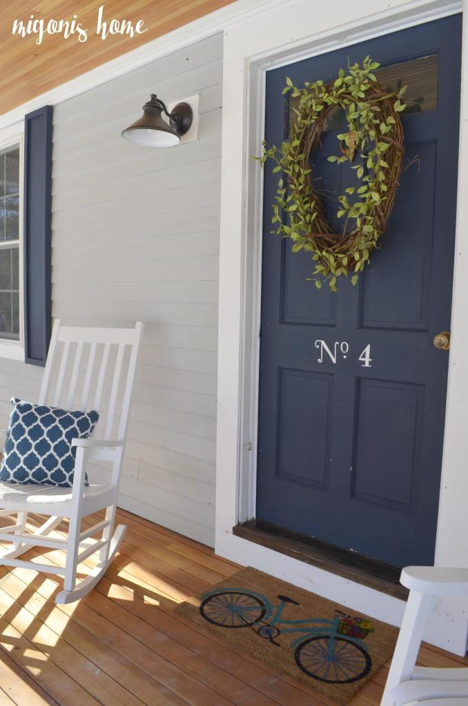 Exterior colors navy front door ideas craftivity designs - Exterior door paint color ideas property ...