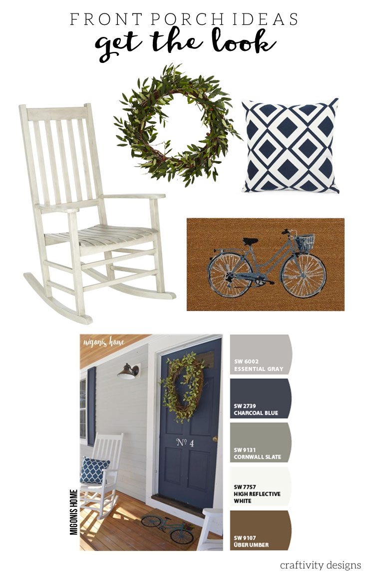 Migonis Home, Navy Front Door Ideas, Exterior Color Ideas