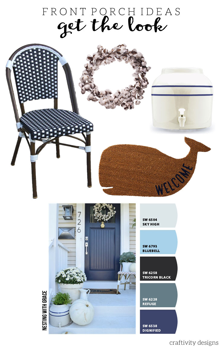 Nesting With Grace, , Navy Front Door Ideas, Exterior Color Ideas