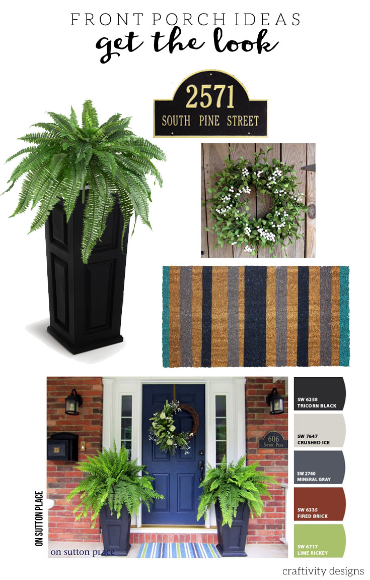 On Sutton Place, Navy Front Door Ideas, Exterior Color Ideas
