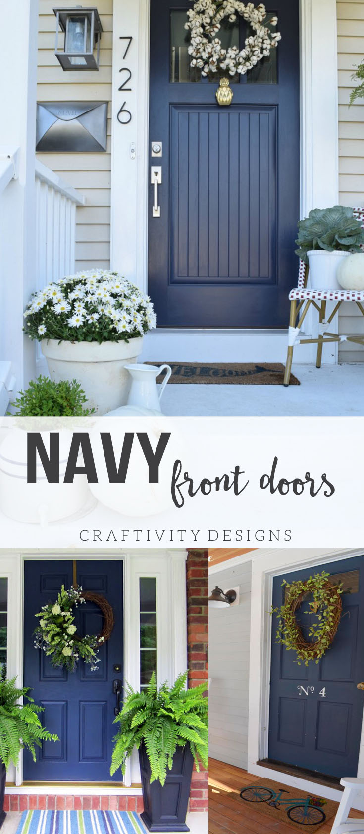 Exterior colors navy front door ideas craftivity designs navy front door ideas exterior colors patio ideas porch ideas exterior design rubansaba