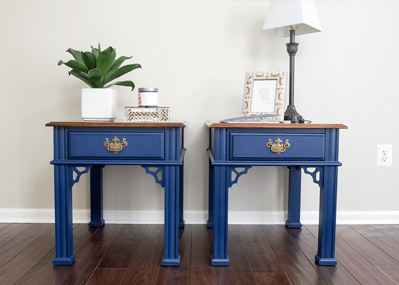 Navy Painted Furniture Makeovers, Navy Furniture Ideas, Blue Furniture Ideas
