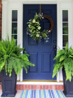 On Sutton Place, , Navy Front Door Ideas, Exterior Color Ideas