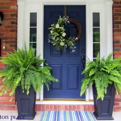 Exterior Colors | Navy Front Door Ideas