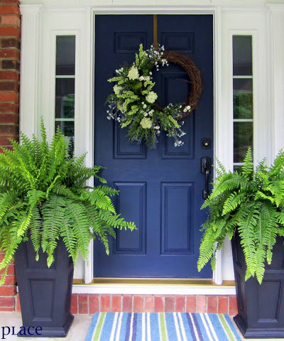 Exterior Colors | Navy Front Door Ideas