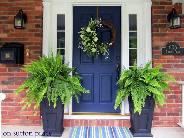 On Sutton Place, , Navy Front Door Ideas, Exterior Color Ideas