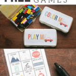 3 Fun + Free Travel Game Templates and Road Trip Printables. How to make a Road Trip Kit to fight boredom while traveling. by Craftivity Designs