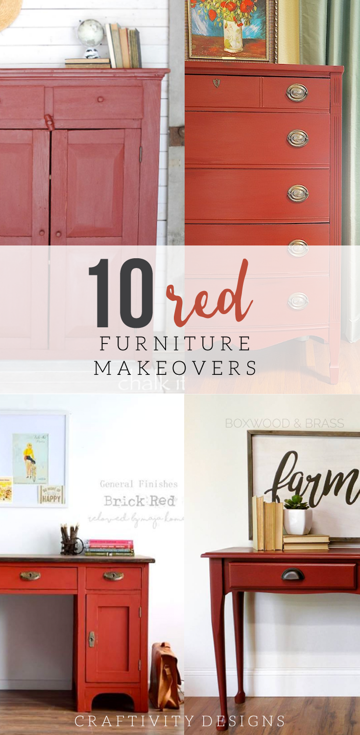 painted red furniture. 10 Red Painted Furniture Makeovers, Furniture, Dressers, Tables,