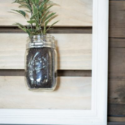 How to Make a Mason Jar Planter from an Old Frame