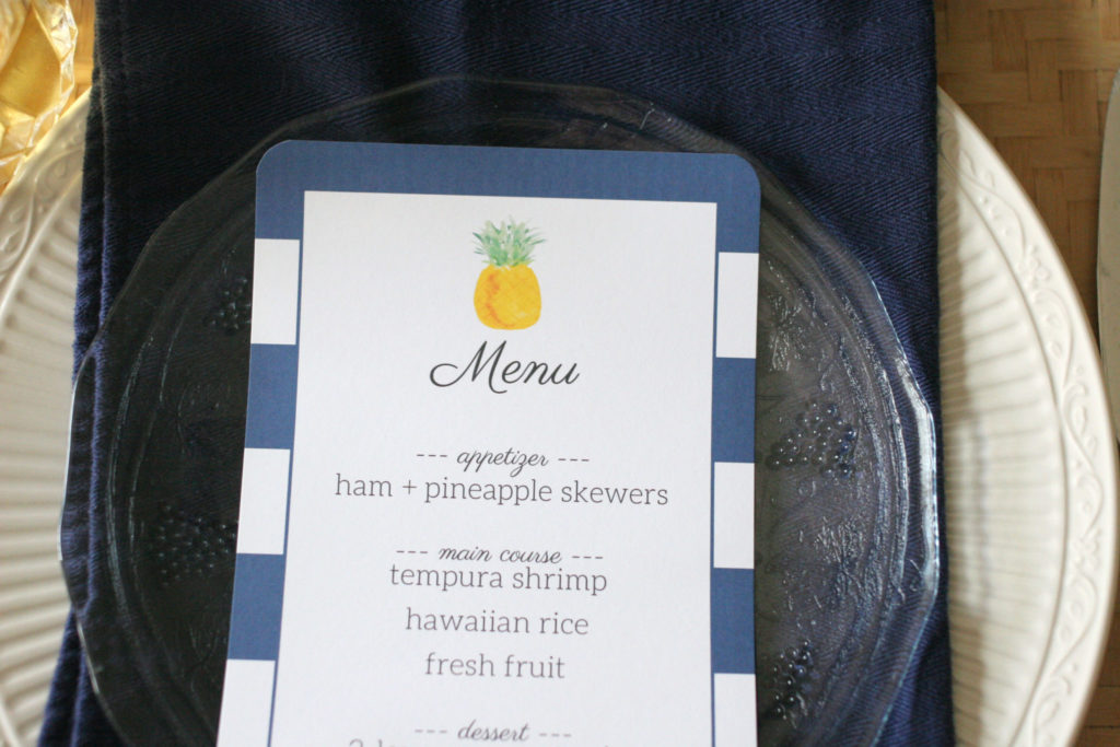 Pretty Pineapple Tablescape, Summer Party, Pineapple Party, Pineapple Menu, Printable Menu Template, Pineapple Table Setting by Craftivity Designs ---> Click the Image to Download the FREE Printable Template