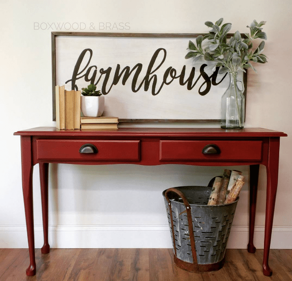 10 Beautiful Red Painted Furniture Makeovers Craftivity Designs