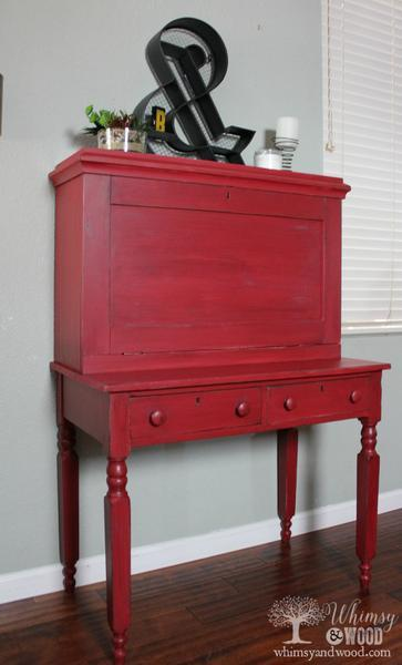 10 Red Painted Furniture Makeovers, Red Furniture, Red Dressers, Red Tables