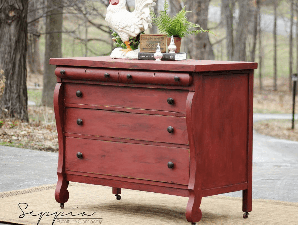 10 Beautiful Red Painted Furniture Makeovers Craftivity