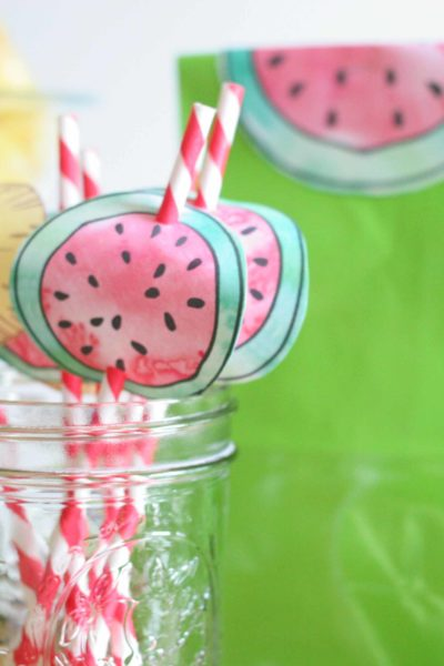 Summer Fruit Luau | How to Make Pineapple and Watermelon Party Decorations