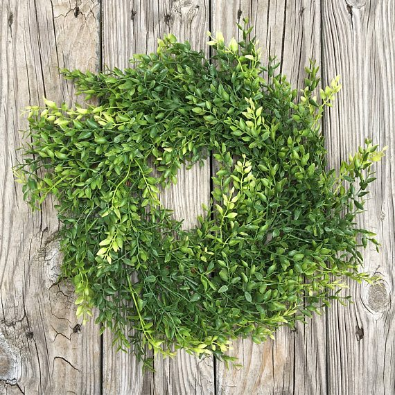 Faux Boxwood Wreath (Click Image to View the Listing)